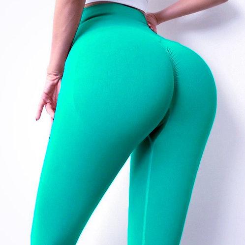 Legging Fitfordivas PUSH UP Seamless Tummy control green
