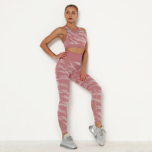 Completo Fitfordivas Fitness Camouflage pink