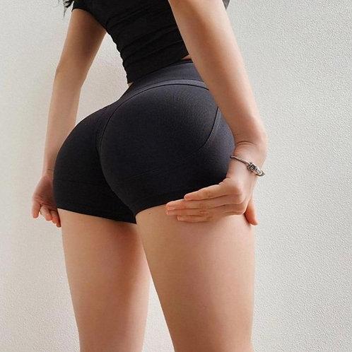 Shorts Fitfordivas PUSH UP Slim Running Workout black