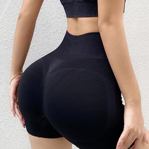 Shorts Fitfordivas High-waisted Waist-lifting Hip black