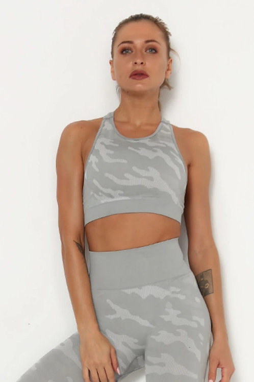 Completo Fitfordivas Fitness Camouflage grey
