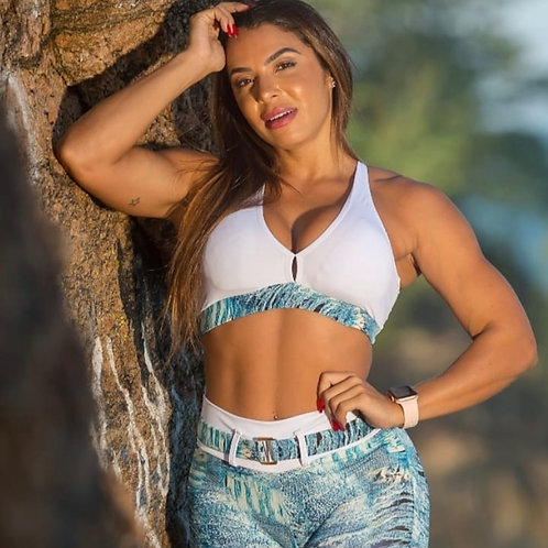 Completo QUICAS BRASIL con shorts Push Up Fake Jeans BELT