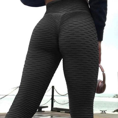 Legging Fitfordivas PUSH UP Stylish 3D Print Hot black