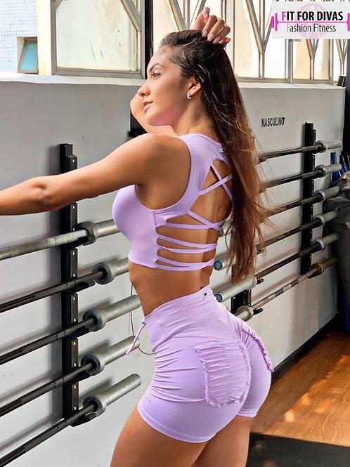Shorts BRAZIL  PUSH UP Frufru shorts lilla