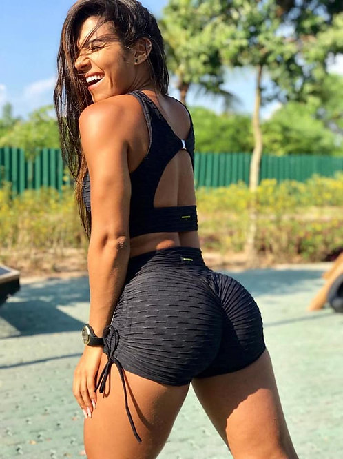 Shorts PUSH UP BROCADO black