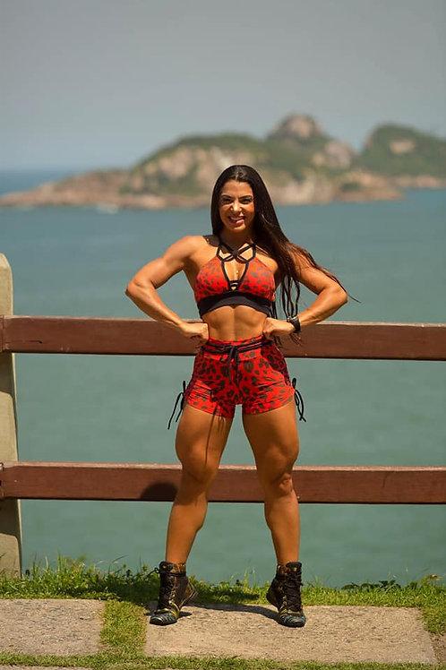 Completo BRAZIL Push Up LEOPARDO rojo