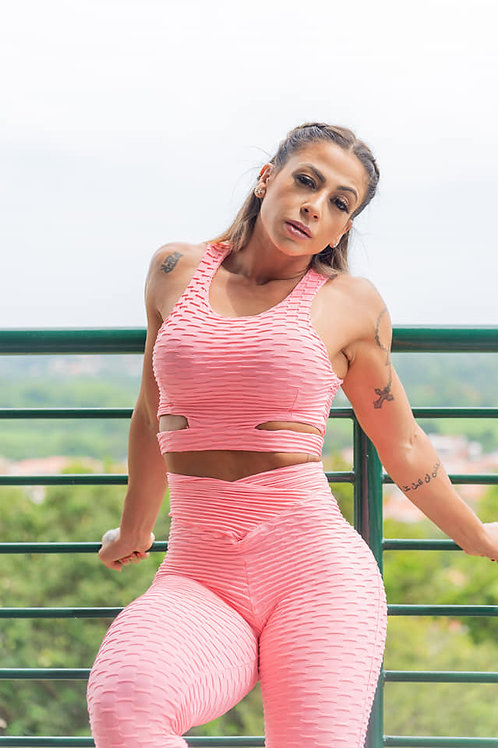 Completo PEOPLE FIT PUSH UP BROCADO rosa
