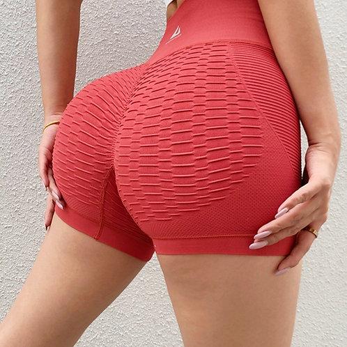 Shorts Fitfordivas Tight 3D Bombut Fitness Sport rosso