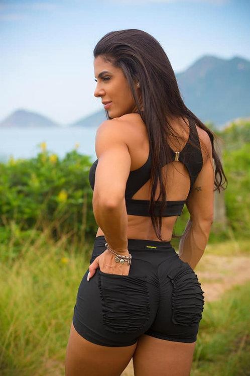 Shorts Push Up BRAZIL Frufru black