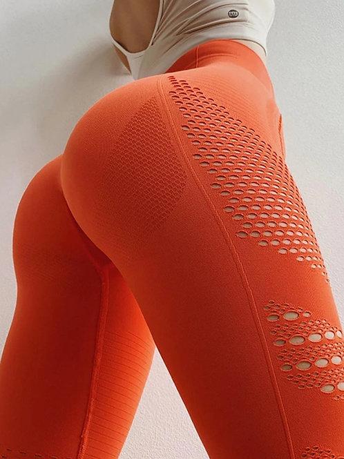 Legging COMPRESSION  PUSH UP FASHION  orange