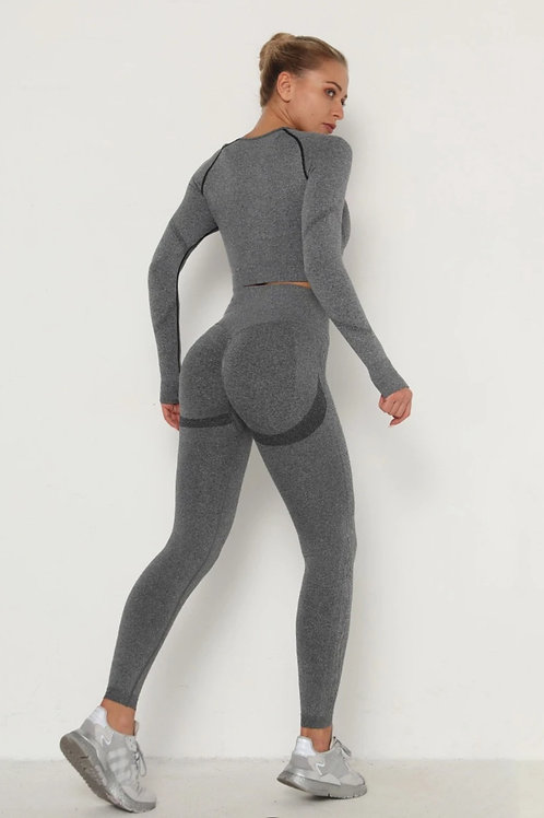 Completo Fitfordivas PUSH UP SCRUNCHY BUM SEAMLESS sport grey