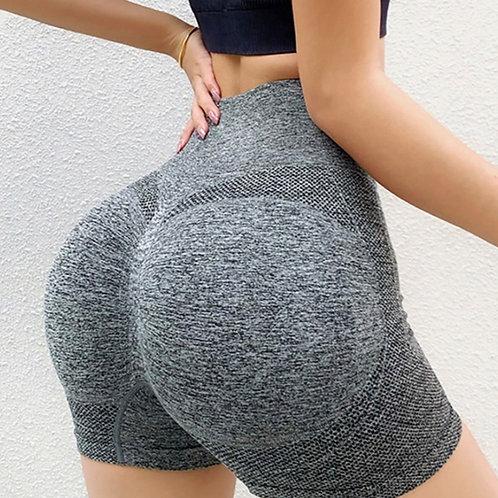 Shorts Fitfordivas High-waisted Waist-lifting Hip grey