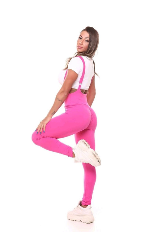 Tuta intera People fit PUSH UP Jardineira rosa pink  (SENZA TOP