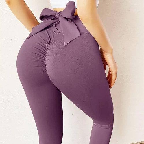 Legging Fitfordivas PUSH UP Stylish Casual Quick-dry black violet