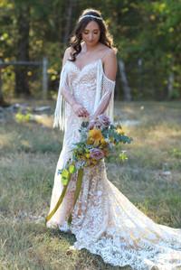 mustard-sage bride