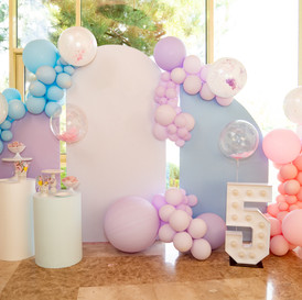 photo zone for a children's party with a