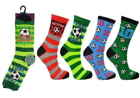 Boys 3pk Novelty Footie Champs Socks