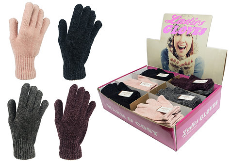 Ladies 1pk Chenille Gloves