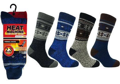 Mens 1pk HM Thermal Fairisle Socks