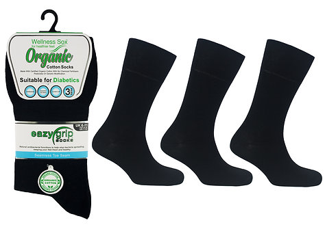 Mens 3pk Wellness Organic Rio Socks