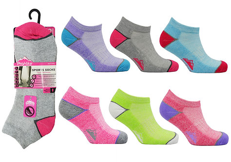 Ladies 2pk Cushion Sole Trainer Socks