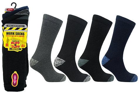 Mens 3pk Big Foot Work Socks