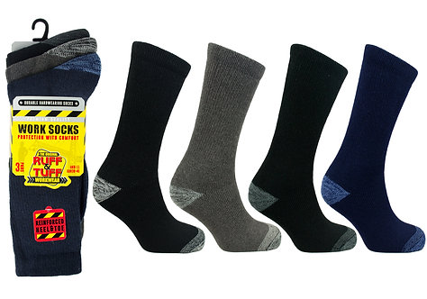 Mens 3pk Work Socks