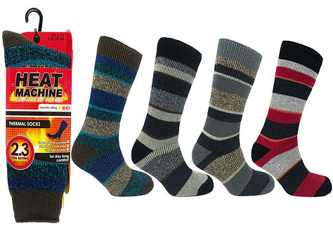 Mens 1pk HM Thermal Stripe Asst Socks