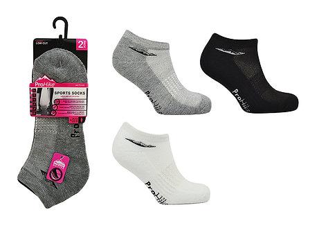 Ladies 2pk Cushion Sole Trainer Socks