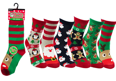 Unisex 1pk Xmas Novelty Socks