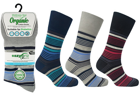 Mens 3pk Wellness Organic Madrid Socks