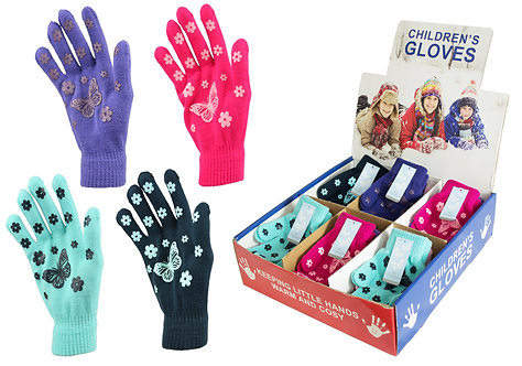 Girls 1pk Gripper Gloves