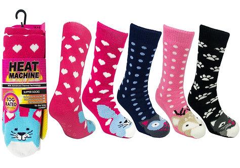 Ladies 1pk HM Animal Slipper Socks