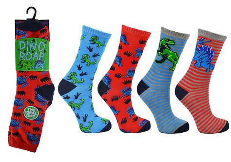Boys 3pk Novelty Dino Roar Socks