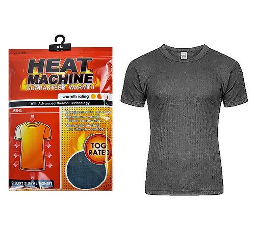 Mens Thermal Heat Machine Denim T-Shirt