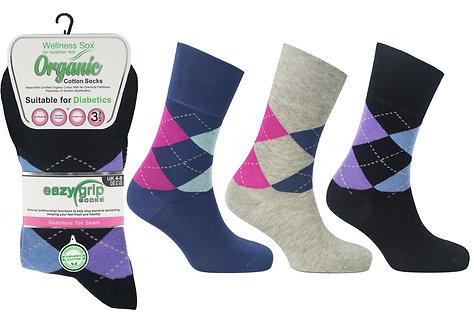 Ladies 3pk Wellness Georgia Socks