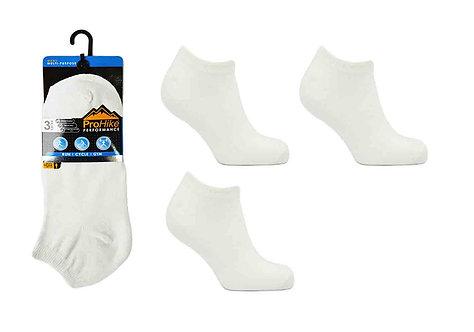 Mens 3pk White Trainer Socks