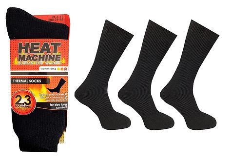 Mens 1pk HM Thermal Black Socks