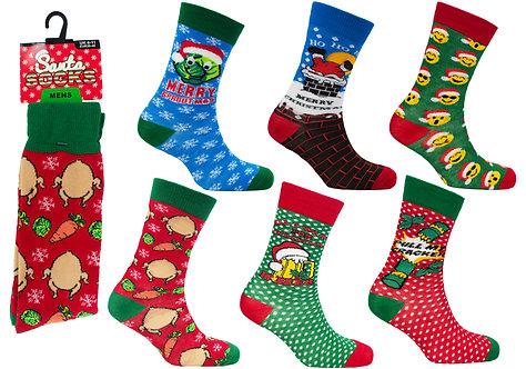 Mens 1pk Novelty Xmas Socks