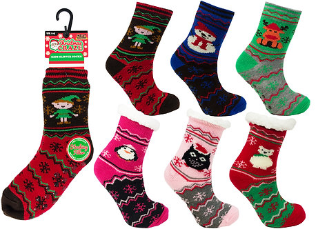 Unisex 1pk HM Fur Lined Socks