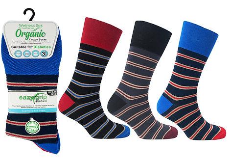 Mens 3pk Wellness Organic Oxford Socks