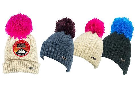 Ladies 1pk ProHike Chevron Knit Pom Pom Hat