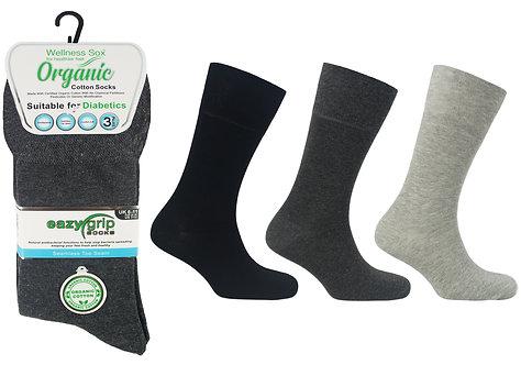Mens 3pk Wellness Organic London Socks