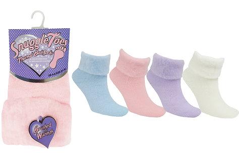 1pk Thermal Bed Socks
