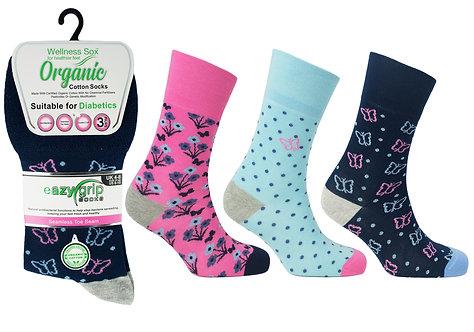Ladies 3pk Wellness Hawaii Socks