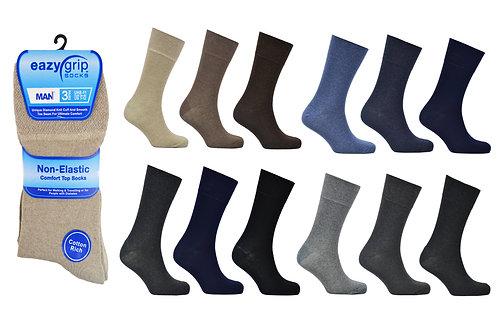 Mens 3pk Eazy Grip Assorted Socks