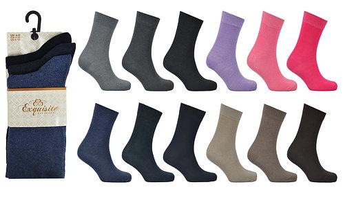 Ladies 3pk Exquisite Asst Socks