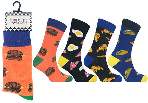 Mens 1pk Jolly Socks - Fast Food