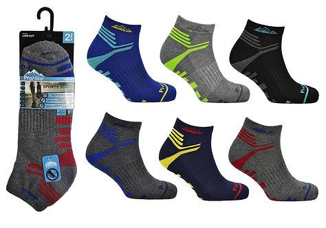 Mens 2pk Cushion Sole Trainer Socks