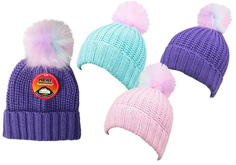 Girls 1pk Unicorn Pom Pom Hat